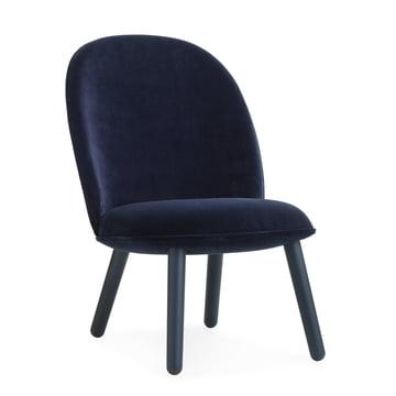 Ace Lounge Chair Velour von Normann Copenhagen in Dark Blue