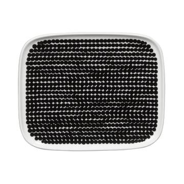 Marimekko - Räsymatto Servierplatte 15 x 12 cm, weiss / schwarz