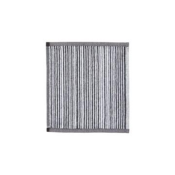Marimekko - Varvunraita Gesichtstuch 30 x 30 cm, weiss / schwarz