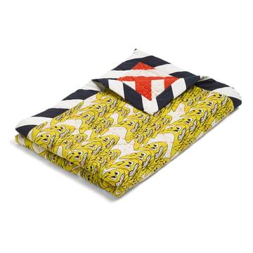 Die Hay -Smileys Quilt Tagesdecke, 245x260 cm in gelb / mehrfarbig