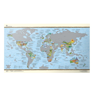 Travelmap/Bucketlist scratch Edition von Awesome Maps auf Englisch