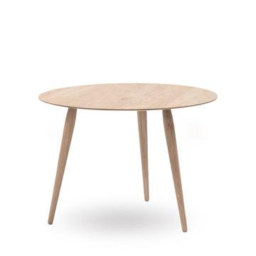 Play Round Wood Beistelltisch Ø 90 cm von bruunmunch in Eiche geseift