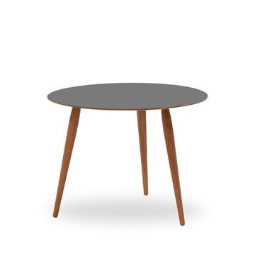 Play Round Laminate Beistelltisch Ø 60 cm von bruunmunch in Storm Grey / Eiche geölt