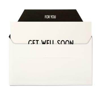 Design Letters - AJ Grusskarte, Get well Soon