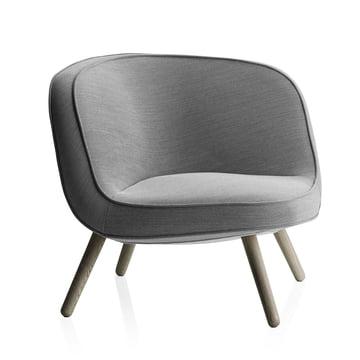 Fritz Hansen - Lounge Chair VIA57, Steelcut Trio 124 schwarz / weiss