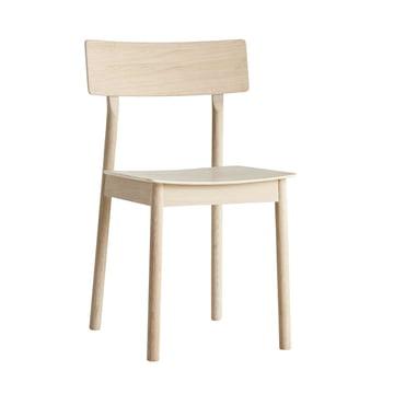 Pause Dining Chair von Woud in Eiche weiss pigmentiert
