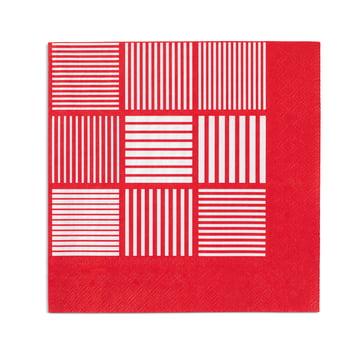 Nanna Ditzel Papierservietten 20 Stck. 40x40 cm von Rosendahl in Rot / Weiss