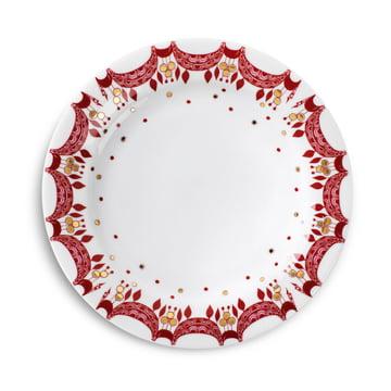 Weihnachtsteller Ø20 cm von Bjørn Wiinblad in Rot