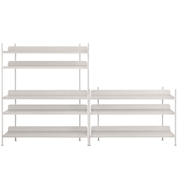 Compile Shelving System (Config. 7) von Muuto in Grau