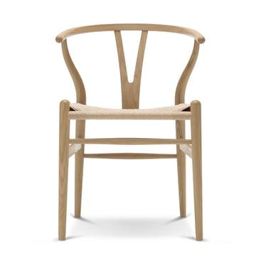 CH24 Wishbone Chair von Carl Hansen in Eiche geseift / Naturgeflecht
