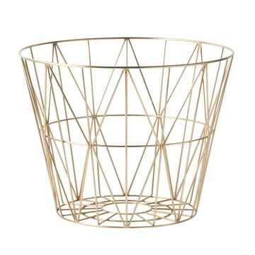 Wire Basket Medium von ferm Living in Messing