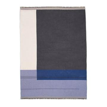 Colour Block Throw von ferm Living in Blau