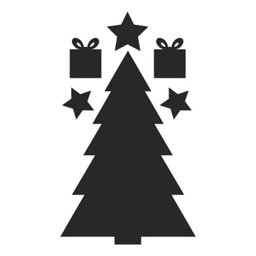 Chalkboard Christmas Tree von Donkey Products