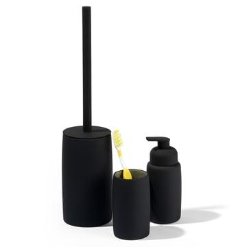 Seifenspender, Zahnputzbecher und Toilettenbürste von Södahl