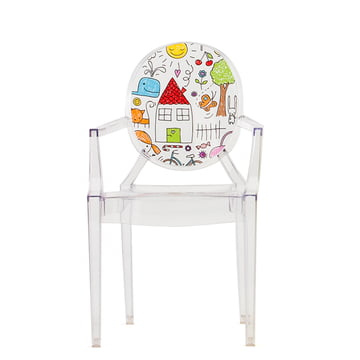 Lou Lou Ghost Kinderstuhl von Kartell in Transparent / Sketch