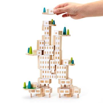 Areaware - Blockitecture, Spielzeug Holz-Architektur, Garden City