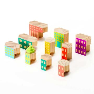 Areaware - Blockitecture, Spielzeug Holz-Architektur, Deco