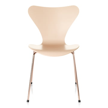 Serie 7 Stuhl von Fritz Hansen in Nude / Rosé-gold