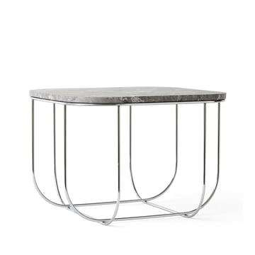 Cage Table von Menu in Marmor / Chrom