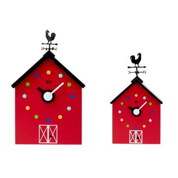 Die KooKoo - RedBarn Wanduhr Bauernhoftiere in groß und klein
