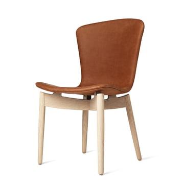 Shell Dining Chair von Mater in Eiche matt lackiert / Leder Dunes Rust