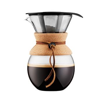 Pour Over Kaffeebereiter mit Permanentfilter 1 l von Bodum in Kork