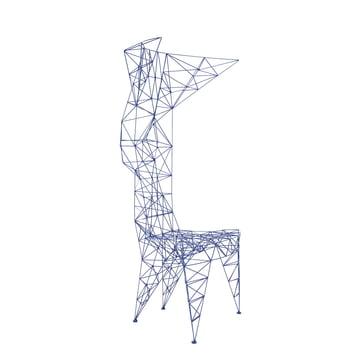 Pylon Stuhl von Tom Dixon in Blau