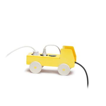 Details - Plug Truck 3er Steckdosen Cover, gelb