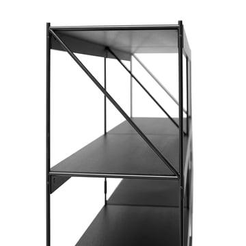 Das Menu - Zet Storing System Regal, 2 x 4 in schwarz / schwarz