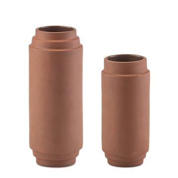 Edge Vase 2er-Set 20 cm + 25 cm von Skagerak