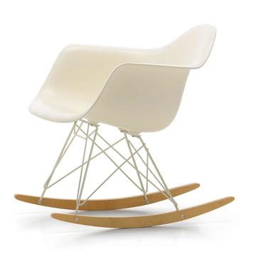 Vitra - Eames Plastic Armchair RAR, Ahorn gelblich / Drahtuntergestell elfenbein, cremeweiß (Limited Edition)