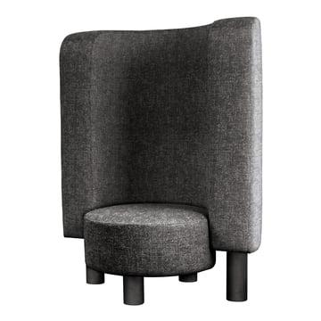 Der Pulpo - Bang Easy Chair in granite / silver grey