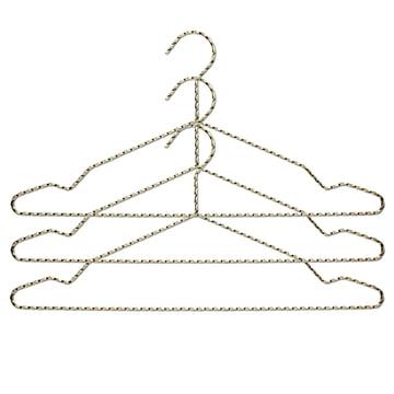 Twisted Kleiderbügel 3er-Set von Hay in Messing