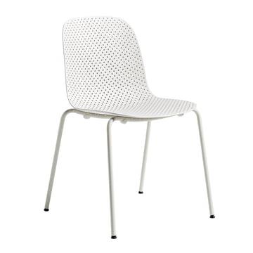 13Eighty Stuhl von Hay mit Untergestell in Grey White / Sitzfläche Chalk White