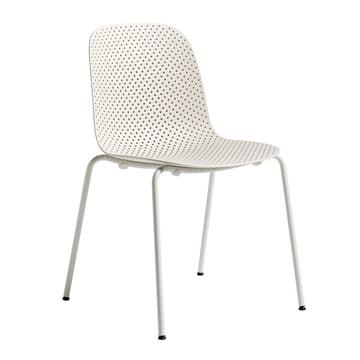 13Eighty Stuhl von Hay mit Untergestell in Grey White / Sitzfläche Nude