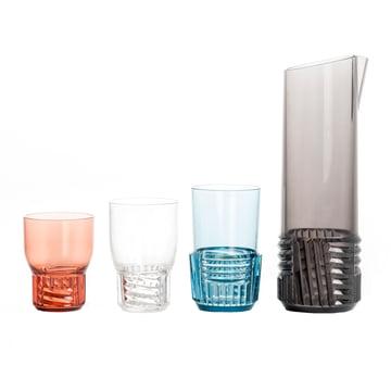 Kartell - Trama Drink Trinkglas mit Karaffe in verschiedenen Farben