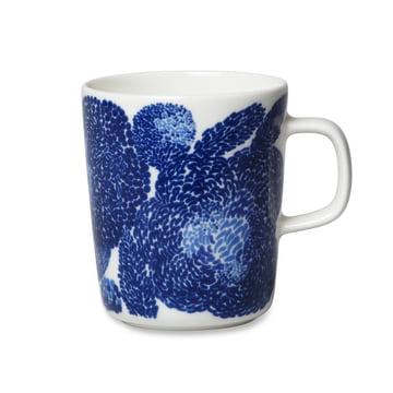 Der Marimekko - Oiva Mynsteri Becher mit Henkel, 250 ml in blau / weiss