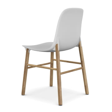 Sharky Stuhl von Kristalia in Eiche mit Sitzschale in Weiss