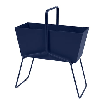 Der Fermob - Basket Blumenkasten hoch in abysseblau