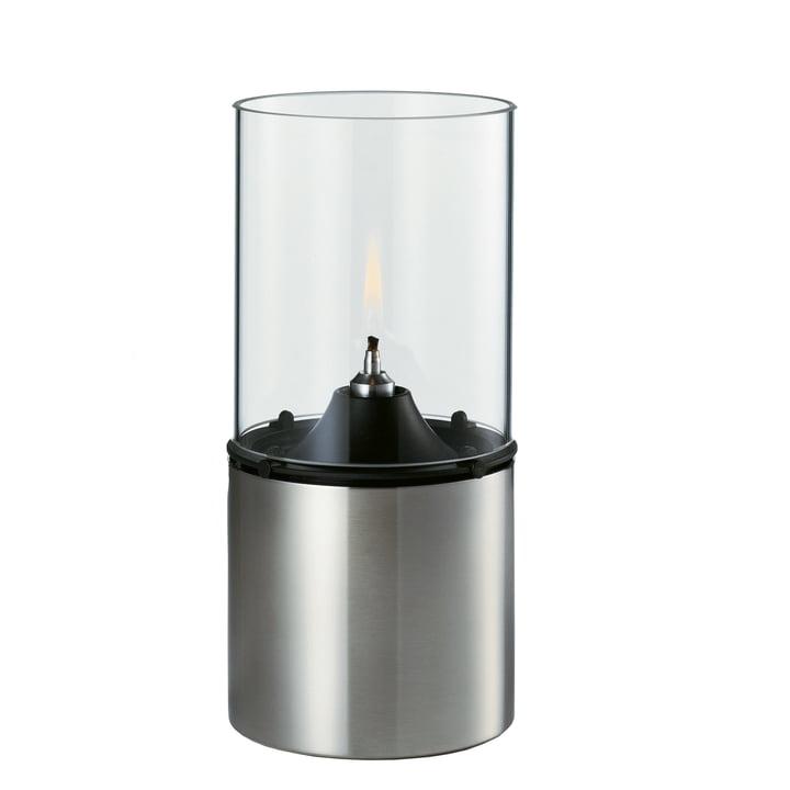 Die Öllampe von Stelton aus Glas und Edelstahl