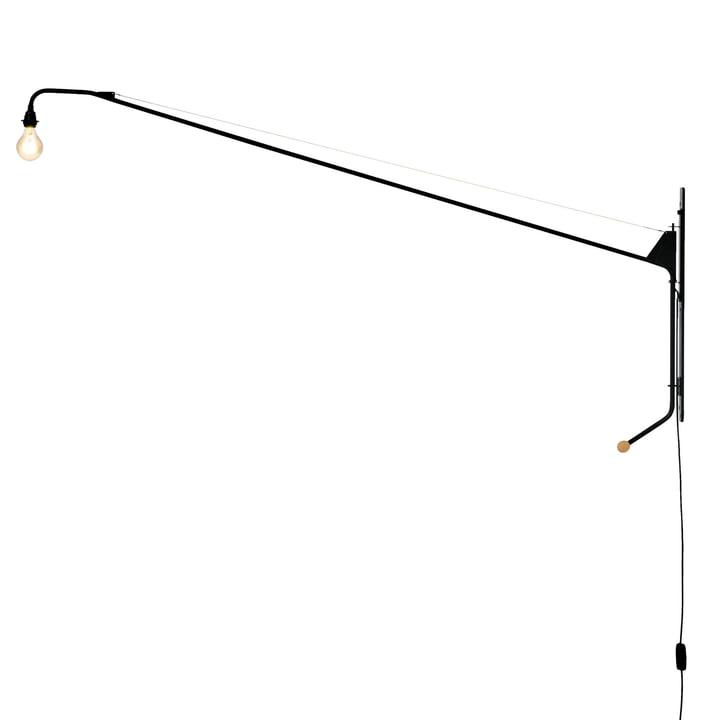 Vitra - Wandleuchte Potence in Schwarz