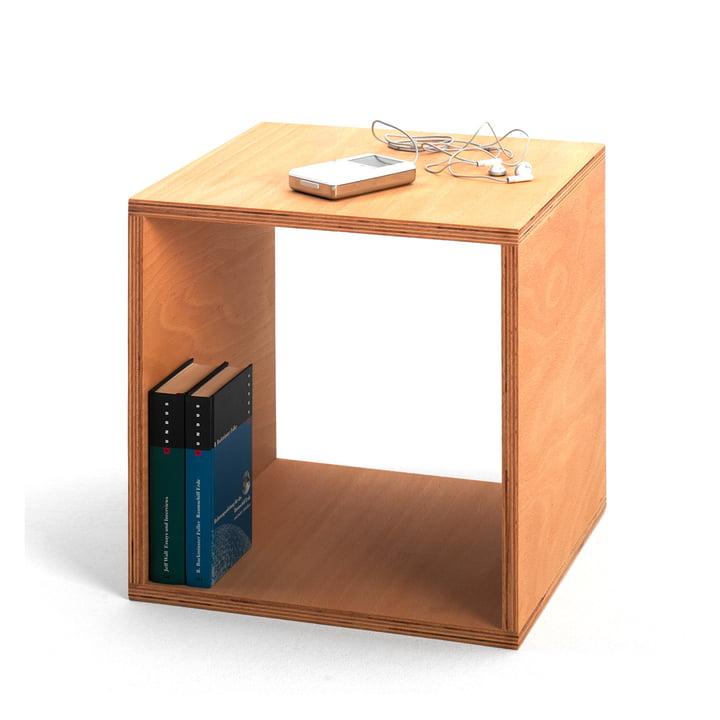 Der Cube Nachttisch von Tojo als Ablagefläche