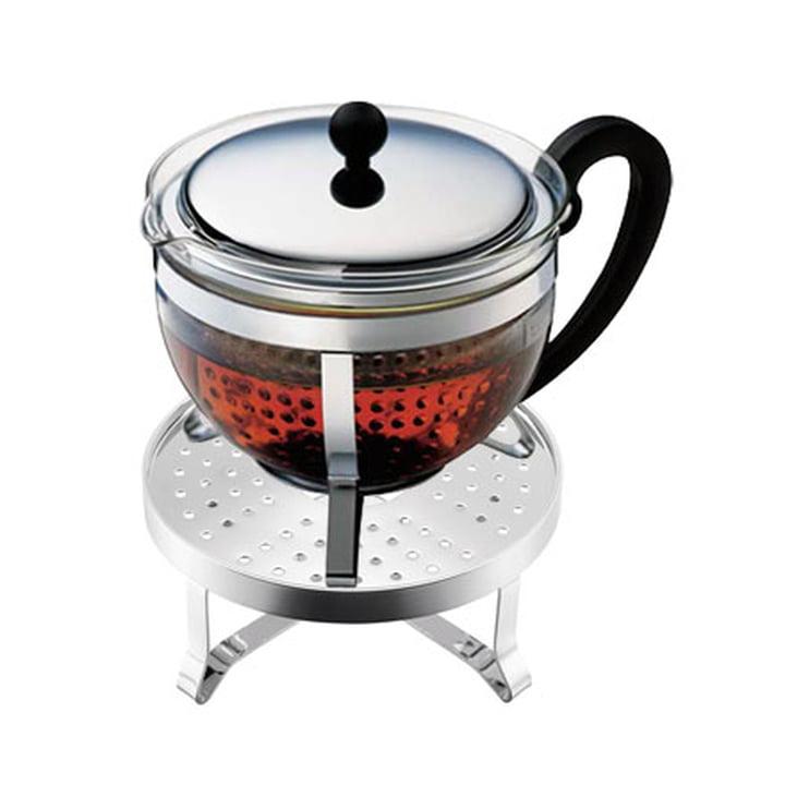 Bodum - Chambord Set mit Teekanne und Rechaud