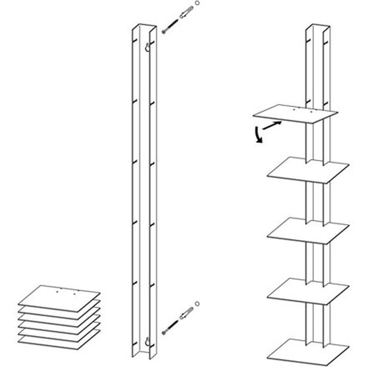 Skizze des Bücherturm von Haseform