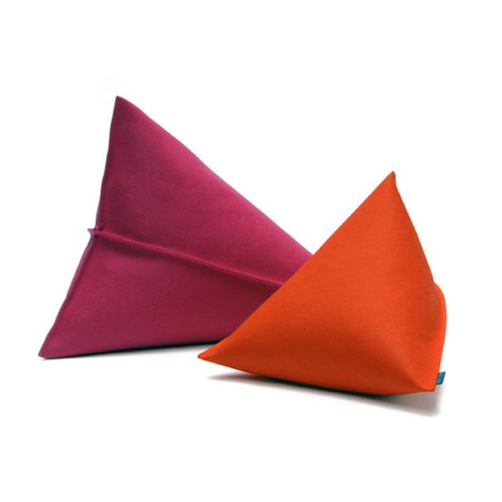 Hey Sign - Lily Filzkissen, rot und orange
