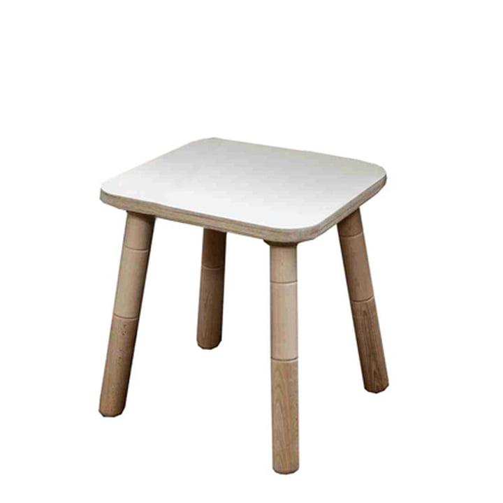 Growing Table - Hocker, HPL weiss