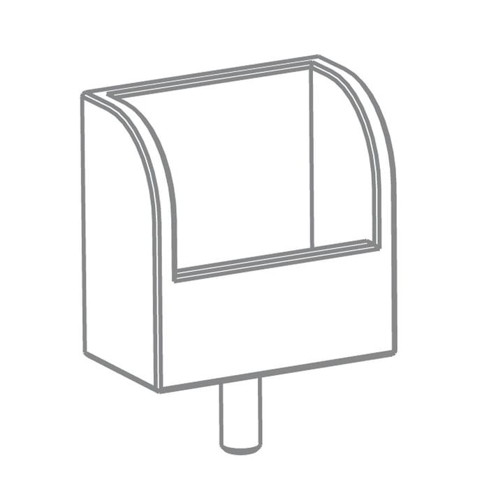Growing Table - Zettelbox, HPL weiss