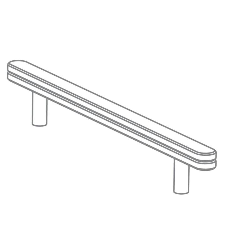 Growing Table - Schiene für Zeichenrolle, HPL weiss