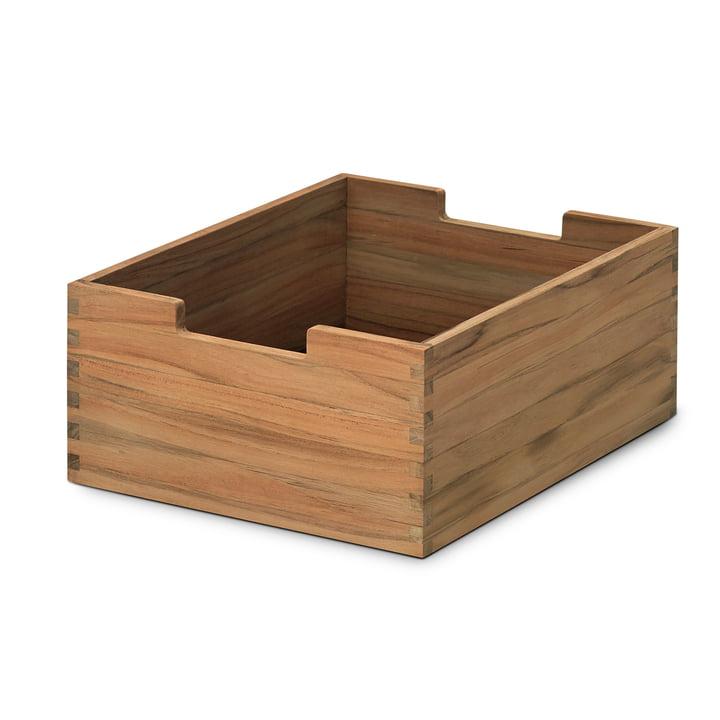 Cutter Box in klein, Teakholz