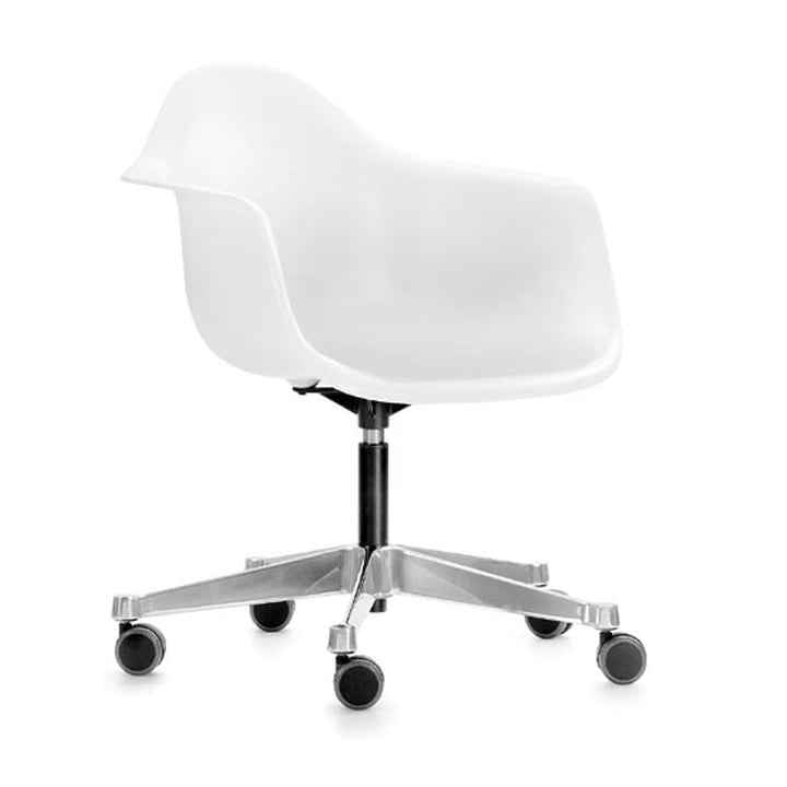 Eames Plastic Armchair PACC von Vitra in weiss